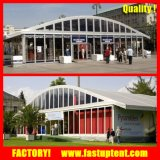 New Design Arcum Curve Wedding Party Event Marquee Canopy Tent with Glass ABS Panel Solid Wall