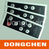 Custom Embossed Button Membrane Switch with LCD Window