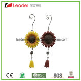 Powder Coated Metal Sunflower Windchime for Home and Garden Decoration