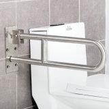 304 Stainless Steel Flip up U-Shape Toilet Grab Bars Sanitary Ware Bathroom Accessories