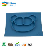 FDA Approval Baby Non-Slip Silicone Monkey Placemat