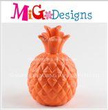 Ceramic Children Gift Red Pineapple Shaped Money Bank