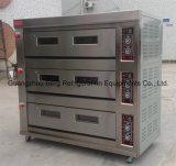 Industrial Gas Oven 3 Deck 12 Trays for Bread and Cakes
