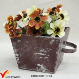 Wholesale Distressed Colored Box Decorative Small Metal Planters