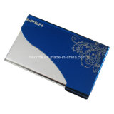 Blue Business Card Holder, Metal Business Card Holder