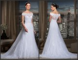Off Shoulder Bridal Wedding Gown Lace Tulle Wedding Dress Y21608