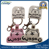 Genuine Leather Key Chain with Customized Logo