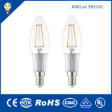 220V 3W E27 SMD Cool White LED Filament Candle Light