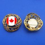Canada Flag Rhinestone Pin Badge Safety Pin Bag