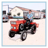 Hot Selling Huaxia Factory Best Price Diesel Engine 12HP 15HP Mini Tractor with CE Certificate Rotary Tiller/Plough/Mower Attached