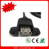 USB 2.0 Dual Panel Mount Extension Cable