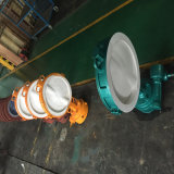 Worm Gear Operation Wafer Lined PCTFE Butterfly Valve