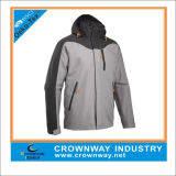 Custom Men Breathable Waterproof Jacket with Flexible Hood