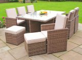 6 Cube Rattan Outdoor Dining Chair Table Garden Furniture (GN-8622D)