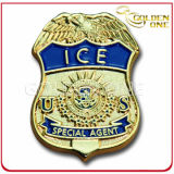 Symbolic U. S Army Gold Plated Sergeant Metal Police Badge