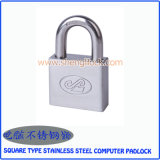 Top Security Square Type Stainless Steel Computer Padlock