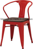 Industrial Wood Seat Red Metal Restaurant Chair (FOH-BCC21)