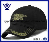 Hot Sell Black Cotton Outdoor Military Cap/Baseball Hat (SYC-0015C)