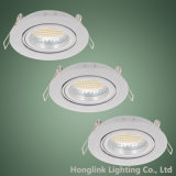 Twist Lock Ring Tilt Aluminum GU10 MR16 LED Recessed Ceiling Light Fixture Downlight