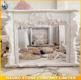 Hand Carved Indoor Decorative Marble Fireplace