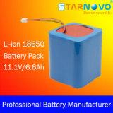 11.1V/6.6ah Lithiun Ion Battery Packs