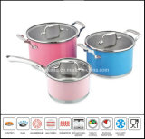 6 PCS Color Coating Stainless Steel Cookware Set