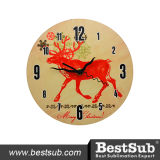 Bestsub Personalized 20cm Hardboard Photo Printed Clock (HBZ01)