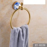 Golden Color Sanitary Ware Towel Ring (A-8339)