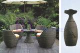 5 PCS Balcony Stackable PE Rattan Outdoor Patio Furniture Set