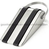 Ss Door Stopper Wedge with Rubber Treads and Metal Handle