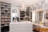 Customized Closet Island with Shoe Shelves