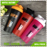 600ml Plastic Protein Shaker Bottle with Stainless Steel Ball