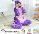 Ladies & Kid Coral Fleece Cartoon Penguin Hooded Bath Robe