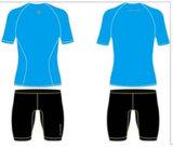 Stock Blue Sublimated Short Sleeveshirts