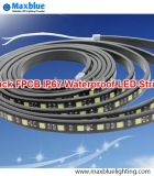 IP67 Waterproof Silicone-Dropped in U-Tube 5050SMD LED Strip with Black FPCB