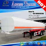 Double-Axis 30-60cbm Crude Oil Fuel Liquid Tanker Semi Trailer