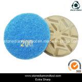 3-Inch/80mm Diamond Hybrid Floor Polishing Pad with Velcro Back