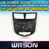 Witson Car DVD for Hyundai Accent Car DVD GPS 1080P DSP Capactive Screen WiFi 3G Front DVR Camera