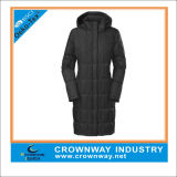 Women Long Goose Down Parka Jacket with Replacement Hood
