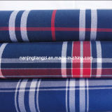 Yarn Dyed Cotton Twill Check Fabric Carbon Peached (LZ5795)