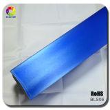 Ceruiean Blue Brushed Car Wrap Film Vinyl