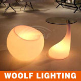 Cheap LED Round Glass Coffee Dining Tables