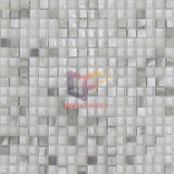 Super White Crystal Mix Silver Aluminium Mosaic Tiles (CFA73)