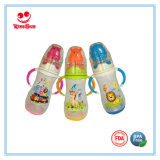 Rattle Animal PP Feeding Bottle with Color Changing Base 350ml