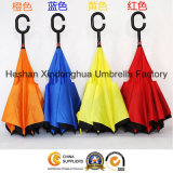 Colourful Portable Handsfree Straight Reverse Inverted Umbrella for Car (SU-0023I)