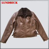 New Design PU Jacket for Women with Good Quanlity