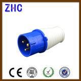 Azul 16A 220V 2p+T Industrial Enchufe Macho Plug