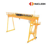 Ce Certified Outdoor Lifting Solution Double Girder Gantry Winch Crane 20 Ton