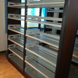 Double-Sided Double Column 6 Layers Bookshelf