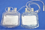 Disposable Double Blood Bag for Medical Use (Flat Film)